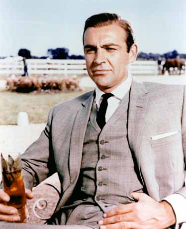 James Bond (Sean Connery) in Goldfinger