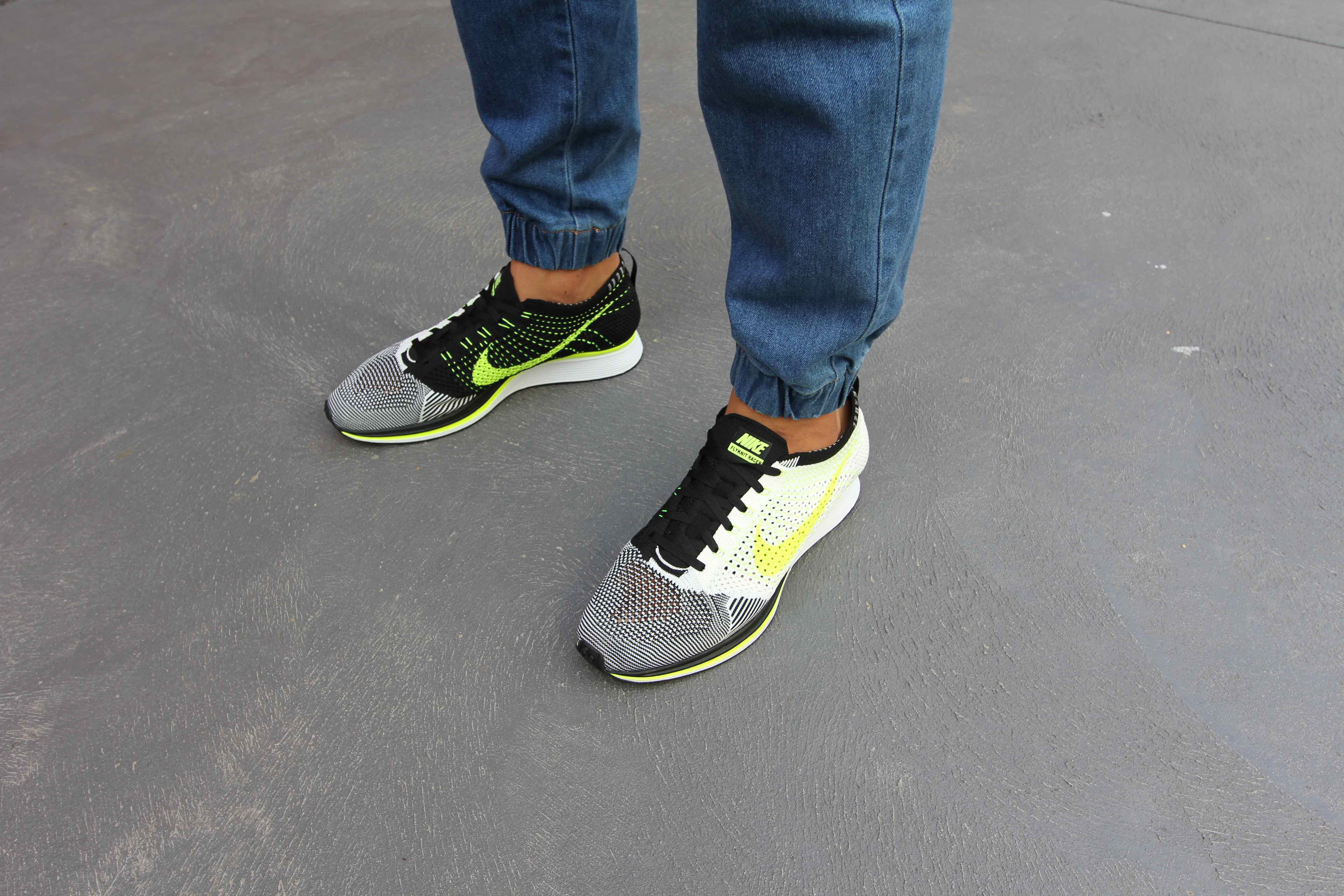 5fefc5052a1f nike flyknit racer black white men women trainers shoes  nike flyknit racer  smf