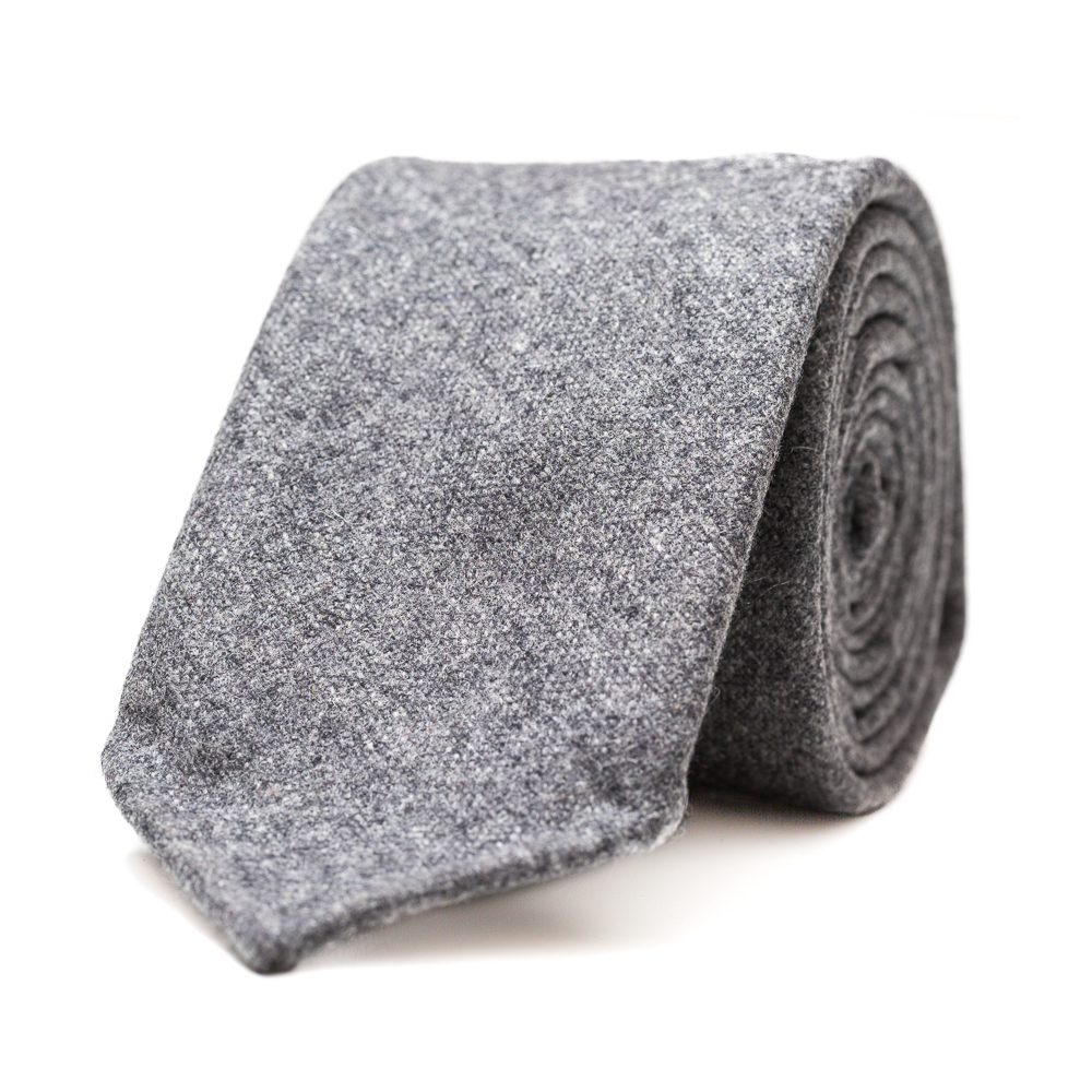 FMTI1WC-FW13 Fumagalli 1891 Grey Wool-Cashmere Tie1