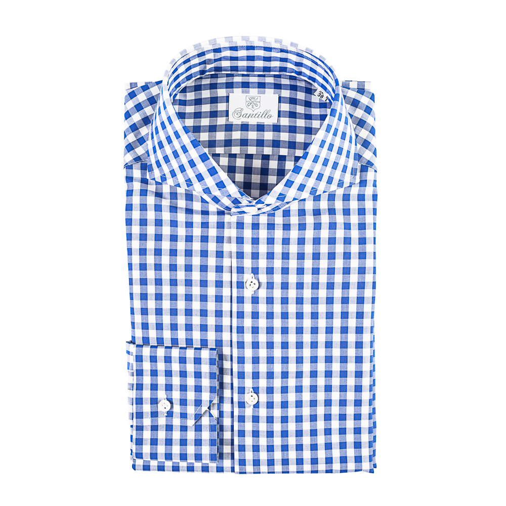 Santillo 1970 Blue Checks Cooper Shirt Finaest.com 1