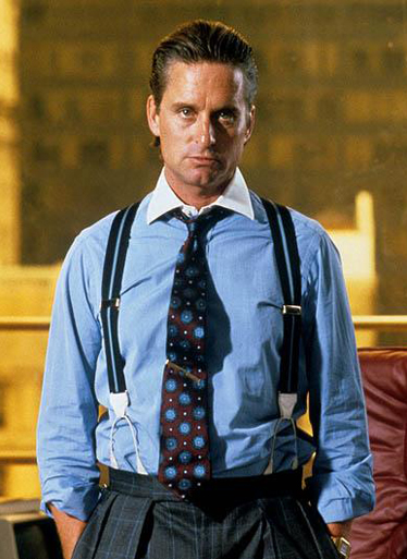 Gordon Gekko (Michael Douglas) in Wall Street