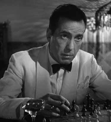 Rick Blaine (Humphrey Bogart) in Casablanca